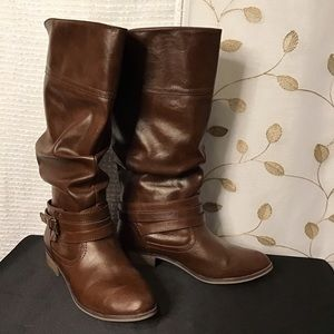 Faux Leather Slouch boots